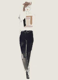 Fashion illustration by Bernadette Pascua