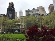 Daydreaming about a rainy April day in Bryant Park.