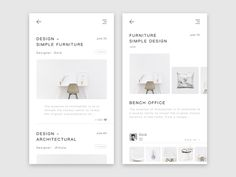 Furniture conceptual design