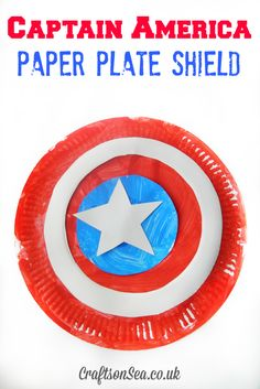 Captain America Paper Plate Shield - Crafts on Sea                                                                                                                                                                                 More
