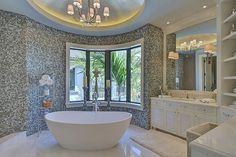 """hers"" master suite.  Marc Michaels Interior Design, Winter Park, Florida."