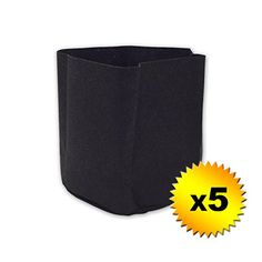 New and awesome product awaits you, Read it now  Universal 5 Pack 5 Gallon Black Fabric Pot Grow Bag Container Gardening or Hydroponic - 5xpac-  ** Gardening DIY