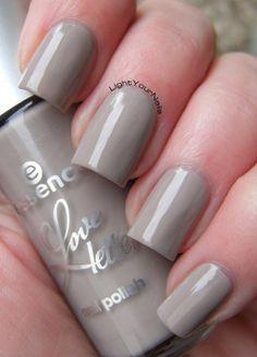 Essence Love Letters TE: Grey-Headed Lovebird #essence #nails #nailpolish #taupe
