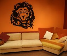 lion roaring wall decal - Google Search