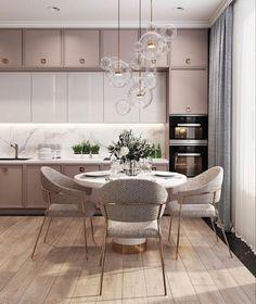 Kitchen Room Design, Home Room Design, Modern Kitchen Design, Dining Room Design, Interior Design Kitchen, Small Apartment Interior, Cuisines Design, Küchen Design, Home Decor Inspiration