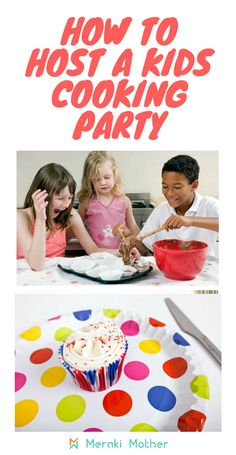Need a fun kids party theme? Find out how to host a kids cooking birthday party. Cooking Birthday Party Games, cooking birthday party invitations and more. Craft Projects For Kids, Easy Crafts For Kids, Toddler Crafts, Kids Cooking Party, Cooking With Kids, Themed Parties, Kid Parties, Kids Party Themes, Party Ideas