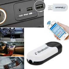 2 in 1 Universal 3.5mm Streaming Car Wireless Bluetooth Car Kit AUX Audio Music Receiver A2DP Adapter Handsfree car accessories