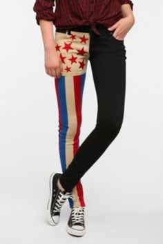 Tripp NYC Retro Flag Jean