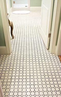 Love this hexagon tile floor