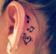 Music notes tattoo music tattoo ideas 70 Pretty Behind the Ear Tattoos Trendy Tattoos, Small Tattoos, Popular Tattoos, Body Art Tattoos, New Tattoos, Sleeve Tattoos, Tattoo Noten, Henne Tattoo, Music Tattoo Designs