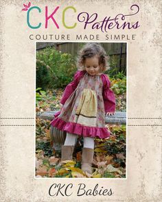 Create Kids Couture - Molly's Baby Faux Apron Peasant Dress PDF Pattern, $7.00 (http://ckcpatterns.com/mollys-babies.html/)