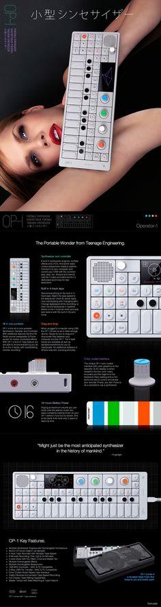 Web site design - Teenage Engineering OP-1 Portable Synthesizer http://www.teenageengineering.com/products/op-1