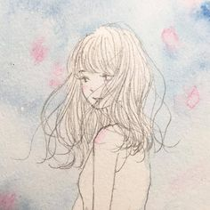 #art #artwork #illustration #drawing #watercolor #girl #spring #イラスト #水彩