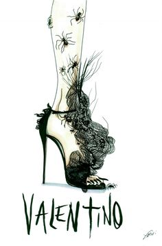 Wacky Fashion Shoe Illustrations by Achraf Amiri