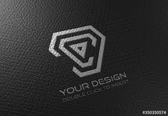 Stock Image: Debossed Logo Mockup on Black Paper Black Paper Texture, True Test, Logo Design, Graphic Design, Photo Logo, Technology Logo, Retail Design, Mockup, Paper Logo
