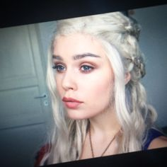 I have two makeup tutorials on the way! Which one do you want to see first? Daenerys transformation or Jack Frost inspired makeup? #khaleesi #daenerys #targaryen #daenerystargaryen #gameofthrones #emiliaclarke #makeup
