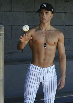 if they all looked like this and played shirtless...i think girls would be more interested in watching baseball