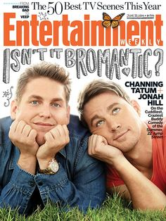 Aren't they just adorable?  22 Jump Street stars Jonah Hill and Channing Tatum cuddle up to talk about the summer's most bromantic comedy for this week's cover: http://ow.ly/xSvAE