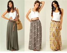 I love these maxi skirts!