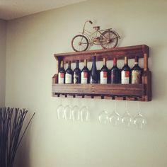 Wine Rack Reclaimed Pallet Wood Pallet Wine by JNMRusticDesigns