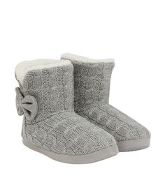 Etam winter boots for homewear / Bottines chaussons maille tressée - only sold in France