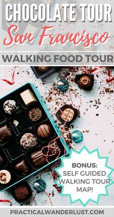 The Ultra Chocolate Tour of San Francisco, California combines booze & chocolate for a delicious walking food tour of San Francisco! Do you like wine & chocolate? What about gin & chocolate? It's surprisingly good! Read more & download the self-guided San