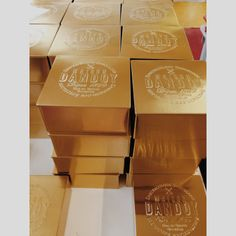 Golden Boxes from Maison Dandoy. Perfect for Christmas.