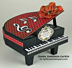 3D Baby Grand Piano by Castlepark - Cards and Paper Crafts at Splitcoaststampers