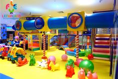 Lefunland is an International indoor playground equipment manufacturer. Supplier of soft play, custom theming commercial playground for kids, FEC development. Indoor Play Centre, Indoor Play Areas, Playroom Design, Kids Room Design, Kid Playroom, Children Playroom, Piscina Playground, Commercial Playground Equipment, Kids Indoor Playground