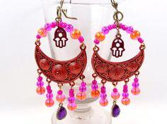 Boucles d'oreilles chandelier orientales par MesOdalisques sur Etsy