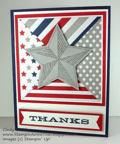 Be the Star, Challenge, DOstamper Stars, Maritime DSP, Paper Pumpkin, Pinwheel, Seriously Amazing, Stampin' Up, Thank you, Wish Big, Cindy Techlin, Stampin' An Ink Trail