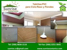 Tablilla PVC para Cielos y Paredes - Sunrise Costa Rica