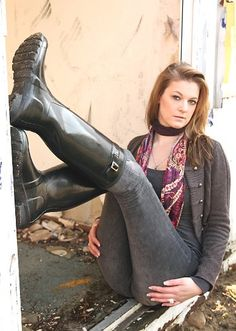Model Wearing Black Hunter Boots | Beverly J. Wilson | Flickr