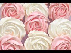 Receta de Suspiros en forma de rosas: Aprende a cocinar Suspiros en forma de rosas de la forma más sencilla y dulce!