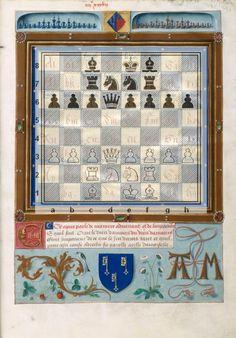 Le Livre des échecs amoureux Evrart de Conty. (diagramme réalisé avec DiagTransfer)