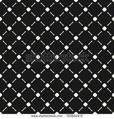 Vector minimalist seamless pattern, simple monochrome geometric texture with small circles and lines in diagonal grid. Abstract minimal background, repeat tiles. Dark design for decor, covers, digital
