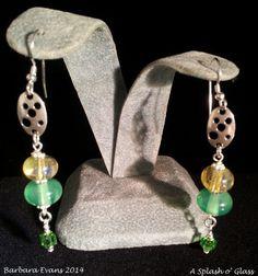 Lampwork Glass Earrings by ASplashOGlass on Etsy