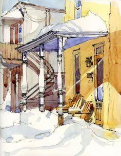 Shari Blaukopf via Urban Sketchers