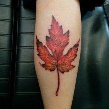Chronic Ink Tattoo - Toronto Tattoo Maple Leaf tattoo by Miss Lee. Full Arm Tattoos, Elbow Tattoos, Girls With Sleeve Tattoos, Word Tattoos, Tattoos For Guys, Tattoo Shops Toronto, Wolf Headdress, Organic Tattoo, Make Tattoo