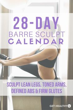 Check out our calendar to sculpt lean legs toned arms defined abs and firm glutes. With these Barre-inspired workouts that blend ballet Pilates isometric holds and functional strength training to give you a heart-pumping workout and tone Ballet Barre Workout, Pilates Barre, Pilates Workout, Butt Workout, Barre Workouts, Home Barre Workout, Ballerina Workout, Barre Body, Barre Exercises At Home