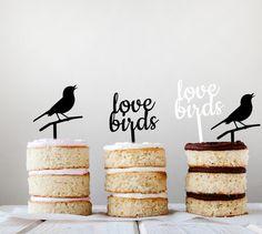 LOVE BIRDS Laser Cut Cupcake Topeprs by LAVISHLASER on Etsy