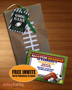Football Goo Bags Sports Party Bag