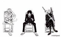 Sanji, Luffy and Zoro