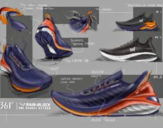Sketches of 361 Degrees Rain-Proof Runners on Behance Sneakers Fashion, Shoes Sneakers, Sneakers Design, Futuristic Shoes, Sneakers Sketch, Shoe Sketches, Mens Skechers, Training Sneakers, Pencil Drawing Tutorials