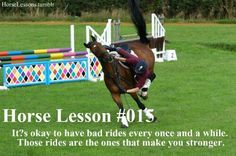Well I must be a strong fricken rider with all the hell I've been going through with my horse