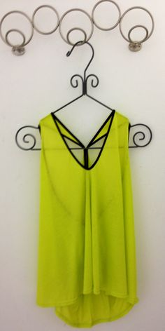 Summer Neon Green Top.