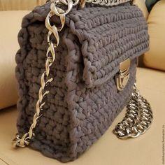 Craft Bags, Crochet Handbags, Knitted Bags, Handmade Bags, Crochet Projects, Knitwear, Knit Crochet, Shoulder Bag, Stitch