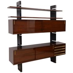 A Fine Italian Modern Mahogany and Ebonised Cabinet, Angelo Mangiarotti | From a unique collection of antique and modern bookcases at http://www.1stdibs.com/furniture/storage-case-pieces/bookcases/