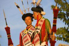 Angami tribal dancers, near Kohima, Nagaland
