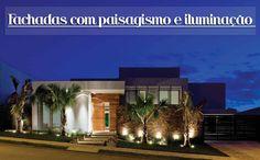 Decor Salteado - Blog de Decoração   Construção   Arquitetura   Paisagismo: Fachadas de casas modernas com paisagismo e iluminação!